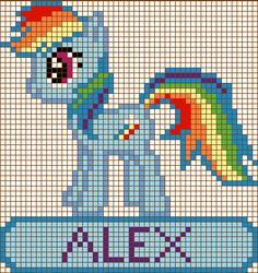 Rainbow Dash Cross Stitch Design by ~moonprincessluna on deviantART