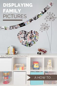 This display cost less than $15 to put together and you can easily update with new photos! Also include other picture wall ideas you could do easily and cheaply.