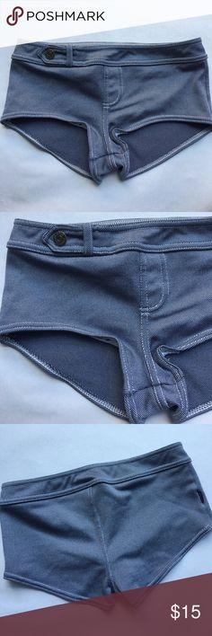 Anne Cole Locker boy short Bikini  swim bottoms Anne Cole Locker swim bottoms. Boy cut   denim look with faux belt and button. Size Small. Anne Cole Swim Bikinis
