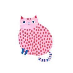 angierozelaar it's another colourful kitty today! Cute Animal Illustration, Illustration Art, Guache, Cute Doodles, Illustrations, Cat Art, Cute Drawings, Collage Art, Art Inspo