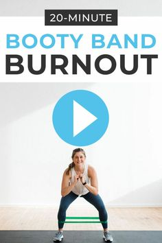 20-Minute Booty Band Workout: Legs, Cardio + Core | Nourish Move Love