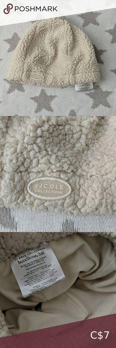 New J J Cole Collections Bundleme 6-12 months Ivory Hat