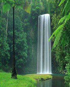 Beautiful Waterfall in Lakes Plitvice, National Park - Croatia
