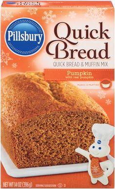 Pillsbury Pumpkin Quick Bread & Muffin Mix - . Nothing beats homemade ...