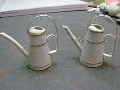 Dollhouse Miniature Furniture - Tutorials   1 inch minis: How to make a mini watering can