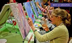 Groupon - Two-Hour Social Painting Event from Paint Nite (Up to 44% Off)  in [missing {{location}} value]. Groupon deal price: $25