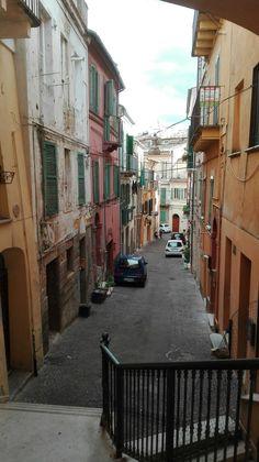 Chieti, vicoli del mercato. Italy