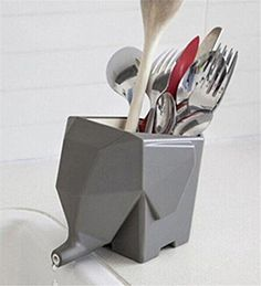 Dry Cutlery Funky Elephant Home Kitchen Bathroom Cosmetic Storage Holders