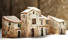 GAULT Provence Houses Used  to  obsessively collect these charming houses. Every trip to France expanded my little village. Exquisite tiny sculptures.