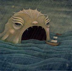 Gallery Works by Jaime Zollars from her illustration portfolios on Dripbook. Art And Illustration, Monster Illustration, Illustrations, Dragons, Nautical Art, Sea Art, Sea Monsters, Monster Art, Art For Art Sake