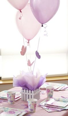 Butterfly Centerpieces with Personalized Table Decorations - Balloon Centerpieces Choice of Colors via Etsy