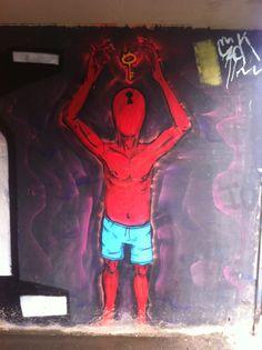 Graffiti Art inside an underpass in Rio De Janeiro, Brazil.
