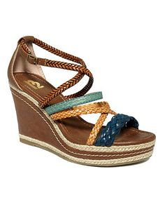 Multi color wedges - so cute!