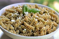 pistachio pesto pasta (since I can't seem to find pine nuts at my favorite store)