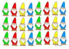 gekleurde Kabouters