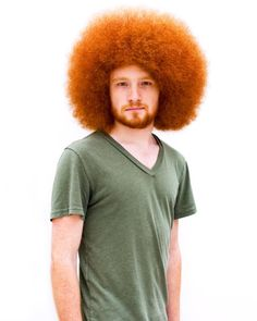 Red Afro ♥ Looks like Christopher, my grandson without the beard and mustache Ginger Men, Ginger Beard, Ginger Hair, Curly Hair Styles, Natural Hair Styles, Redhead Men, Natural Man, Natural Redhead, Afro Hairstyles
