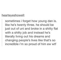 24 now, but this was probs made before his birthday. And yes, I'm so proud ❤️❤️❤️>>> Youtube creates miracles such as Daniel Howell