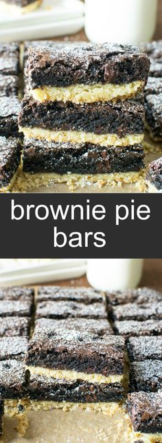 Brownie Pie Bars bro