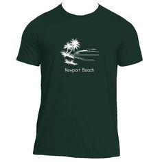 Newport Beach, California Palm Tree Beach - Men's Moisture Wicking T-Shirt