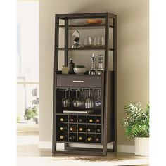 Ladder bar: H x W. Wine Rack Included: Yes. Wine Glass Storage: Yes. Product Type: Back & Wall Bar. Bar Furniture For Sale, Furniture Ideas, Furniture Stores, Wine Furniture, Furniture Websites, Cheap Furniture, Furniture Design, Armoire Bar, Wine Rack Design