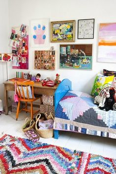 Colorful and eclectic.