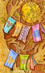 Part of the Chrysalis Tarot by Holly Sierra...www.hollysierra.com...Six of Spirals.