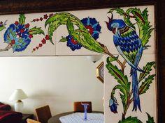emeklilik hobileri: çinilerim-20 Jacobean Embroidery, Turkish Tiles, Mirror Tiles, Border Design, Tile Art, Quilting Designs, Artsy, House Design, Painting