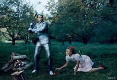 Gimme dem RED SHOES! Vogue,December 2005 Artist John Currin as the Tin Man.