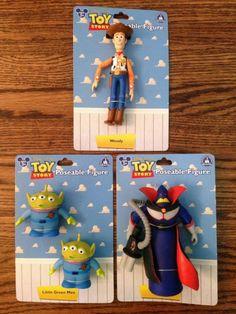Lot of 3 Disney Pixar TOY STORY ACTION FIGURES: Woody Zurg Little Green Men