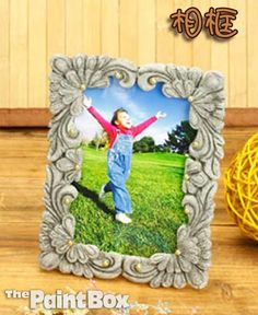 DIY Clay Border Picture Frame