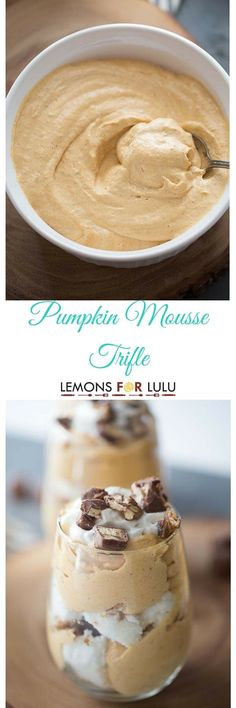 Pumpkin Mousse Trifle is a fall spiced treat that is both rich and decadent yet light and airy. Silky sweetness in each bite! lemonsforlulu.com CreateDelight