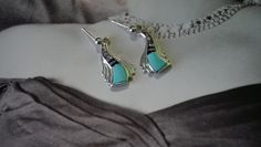 Sterling Silver Navajo Wild Horse, Turquoise, Jet Inlay Stones Dangle Earrings, Rick Tolino Navajo Jewelry Artist, Native American Indian by LeTreasurelat on Etsy