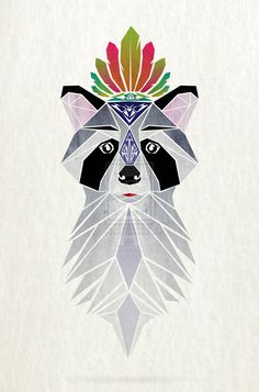 raccoon_spirit_by_manou56-d7b6wh8.jpg (1024×1551)