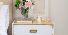 Why is it that a little bit of gold detailing makes the world a prettier place? Take for example the sort of plain IKEA Rast Dresser. Good bones but lacking in something. With a little bit of gold hardware, white lacquer paint and a splash of gold leaf...Voila. Nightstand Perfection. And all for about $150.…