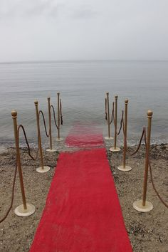 Refugees Welcome - a red carpet entry to Europe. More