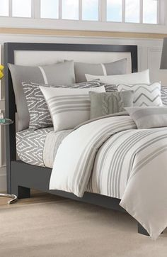love this #grey bedding http://rstyle.me/n/h3qqmr9te