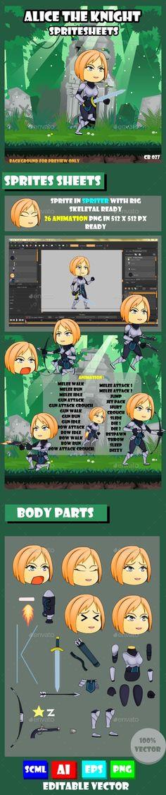 #Game Asset : Girl Warrior - Sprites Game Assets Download here: https://graphicriver.net/item/game-asset-girl-warrior/17649413?ref=alena994