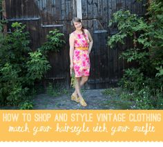Luloveshandmade: How to Shop & Style Vintage Clothing: Outfit Three.