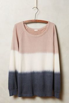 t.la Dip-Dye Sweatshirt. Could I get this really oversized for me? Cause I'd wear it as a dress with layered jewelry and sneakers.