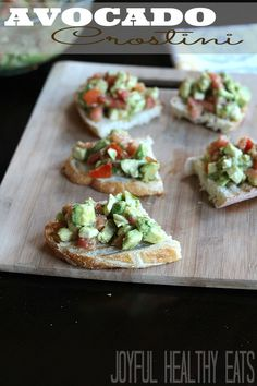 This Avocado Crostini is an easy, quick, and healthy appetizer full of flavor. So making this again! #healthyappetizer #avocado | by @JoyfulHealthyEats