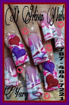 Fashion Nails and Women Valentine Nail Art, Holiday Nail Art, Nail Designs Pictures, Nail Art Designs, Sinaloa Nails, Nancy Nails, Duck Feet Nails, Flare Nails, Curved Nails