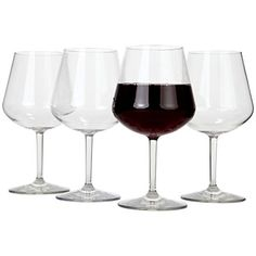 Lilys Home Chef Collection Unbreakable Indoor  Outdoor Pinot Noir  Red Wine Glasses Shatterproof and Reusable Set of 4 -- Check out the image by visiting the link.