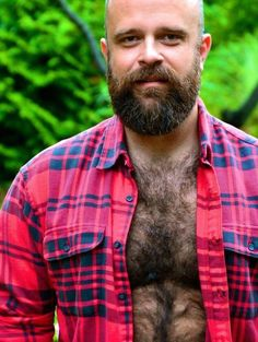 Hairy Daddy Bear. Beards. Men. Flannel. Photography.