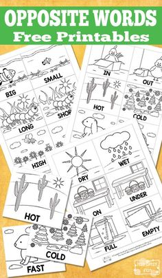 Free Opposite Words Printables