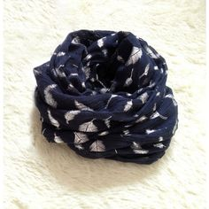 Vintage Feather Printed Voile Infinity Scarf for only $14.99 ,cheap Fashion Scarves - Clothing  Apparel online shopping,Vintage Feather Printed Voile Infinity Scarf