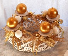 Christmas are GOLD! #advendwreath #wianekadwentowy #goldxmas #xmas2014 #christascenterpiece #candles