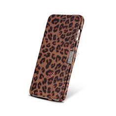discount XOOMZ Leopard Genuine Leather Magnetic Flip Case For iPhone 6 4.7inch - Brown