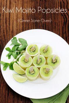 Kiwi Mojito Popsicles | gimmesomeoven.com
