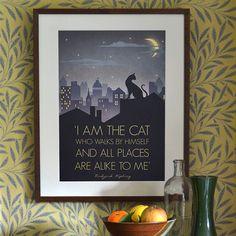 Original Design Art Deco Bauhaus A3 A2 A1 Poster Print Vintage 1930's Cat Fashion Vogue 1940's Rudyard Kipling Quote City Cityscape by RedGateArts on Etsy https://www.etsy.com/listing/117487413/original-design-art-deco-bauhaus-a3-a2