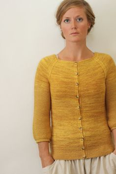 AUDREY // top down cardigan sock yarn sweater knitting pattern PDF Jane Richmond